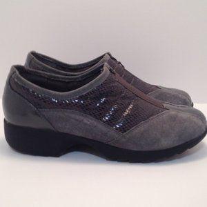 Sporto 7M Grey Mixed Pattern Zip Sneakers